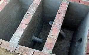 磚砌隔油池成型圖片